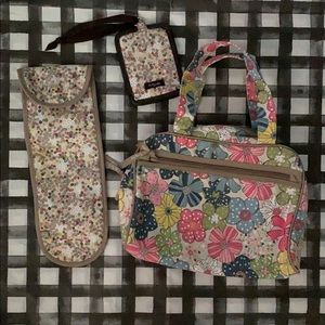 Thirty one makeup tote, travel tag, iron holder